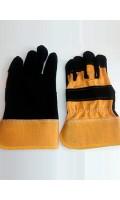 Перчатки спилковые комбинированные Трал, код 188