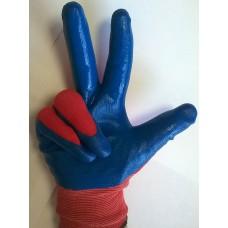 Перчатки нейлон обливные Люкс, код 195