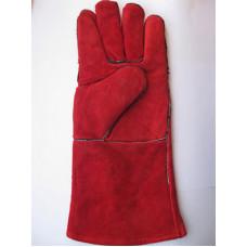 Краги замшевые красные Трэк, код 004