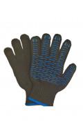 Перчатки с ПВХ - волна 6 - нитка черные ЛЮКС 6,7нит/7,5кл 316 текс код 235