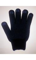 ПВХ перчатки-точка черные 7,5 класс 250 текс, Код 007