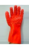 Перчатки МБС красные крага (1/12/60) код 125