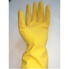 Перчатки резиновые хозяйственные с хлопком (S-165, M-154, L-177, XL-174)