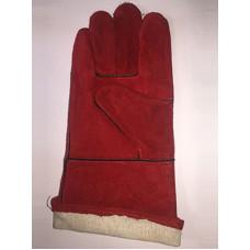 Краги замшевые красные Трэк-люкс, код 164