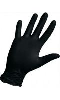 Смотровые черные нитриловые неопудренные размер/код M/464 L/249 XL/250