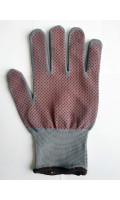 Перчатки нейлон с ПВХ-точка серые код 831