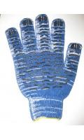 Перчатки ПВХ 10 кл, 5-нитка - волна березка