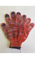 Перчатки с ПВХ красные (10/200, 4/10) 42 г. код 128