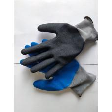 Перчатки нейлон дачные люкс (10/250) 60г/15 кг, код 711