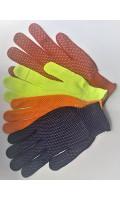 Перчатки нейлон с ПВХ-точка цветные, код 742