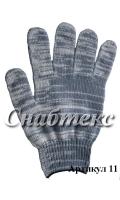 Перчатки хб Березка 10 класс, 5-нитка, код 011