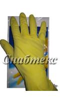 Перчатки резиновые хозяйственные эконом (S-067, M-075, L-074, XL-106 )