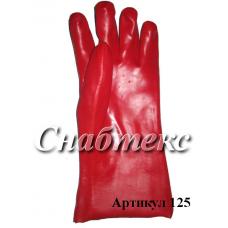 Перчатки МБС красные крага длинная, код 125