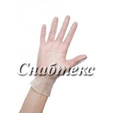Перчатки смотровые виниловые неопудренные (M-068, L-185)