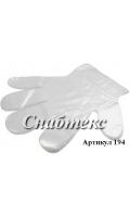 Перчатки полиэтиленовые одноразовые, код 194