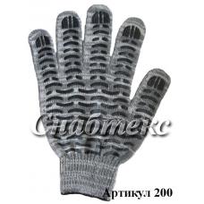 Перчатки пвх-волна Березка, 10 класс 5-нитка, код 200