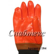 Перчатки Зима Пламя манжета, код 184