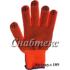 Перчатки зима хб с пвх с начесом, код 189